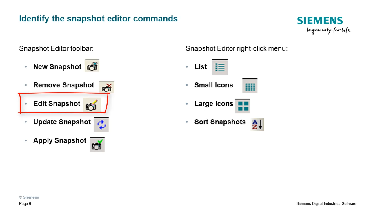 Create and use snapshots and the Markup Editor cover image