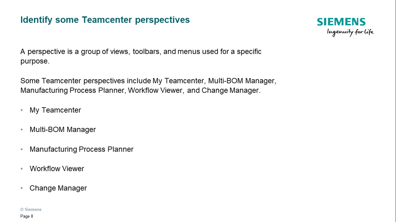 Identify basic portions of Teamcenter cover image