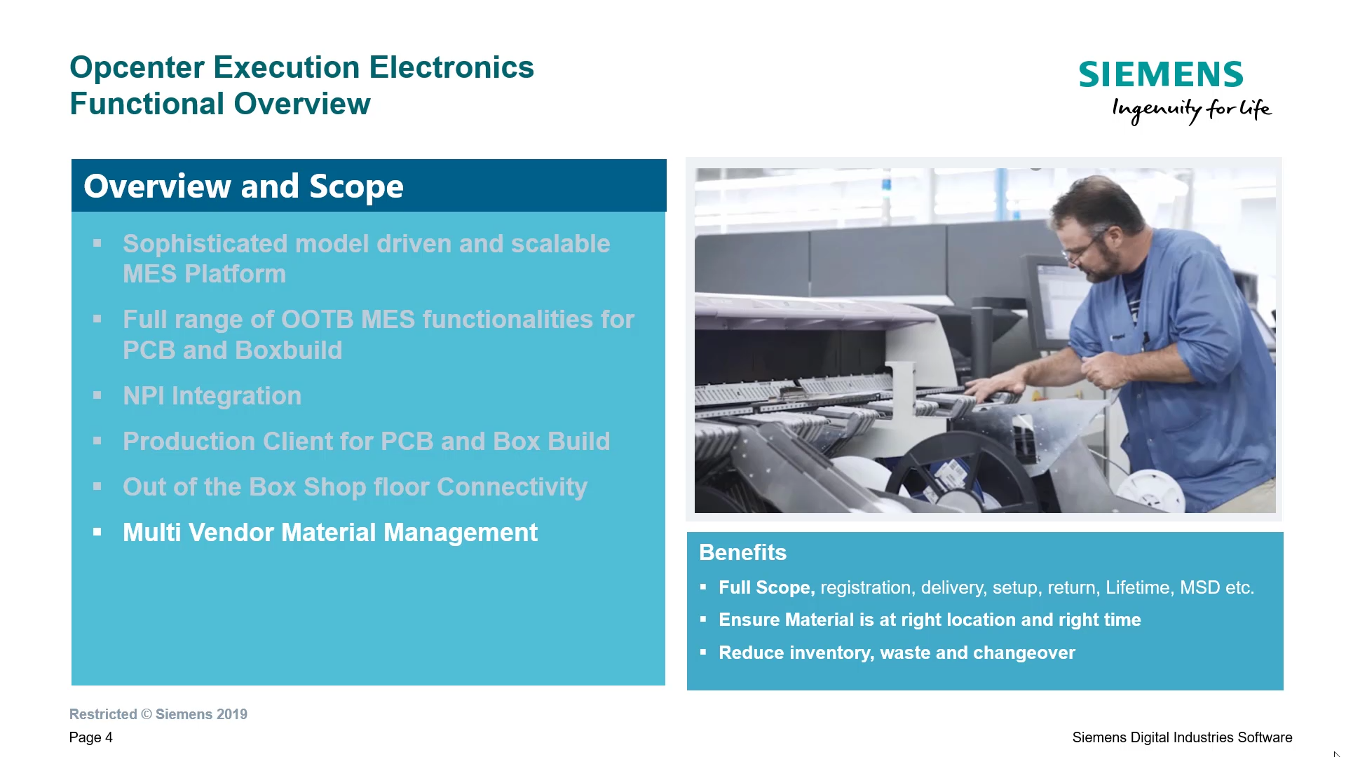 Introduction to Opcenter EX Electronics cover image