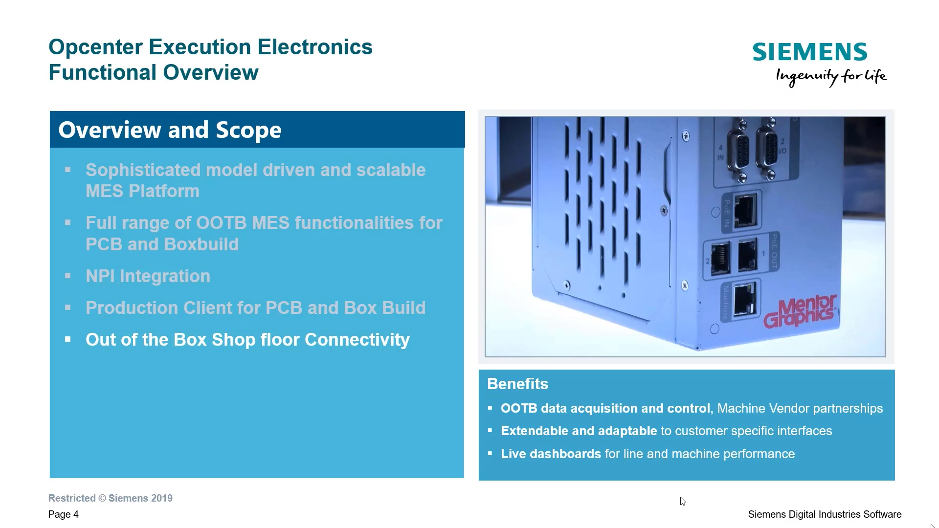 Opcenter Execution Electronics IoT Introduction cover image