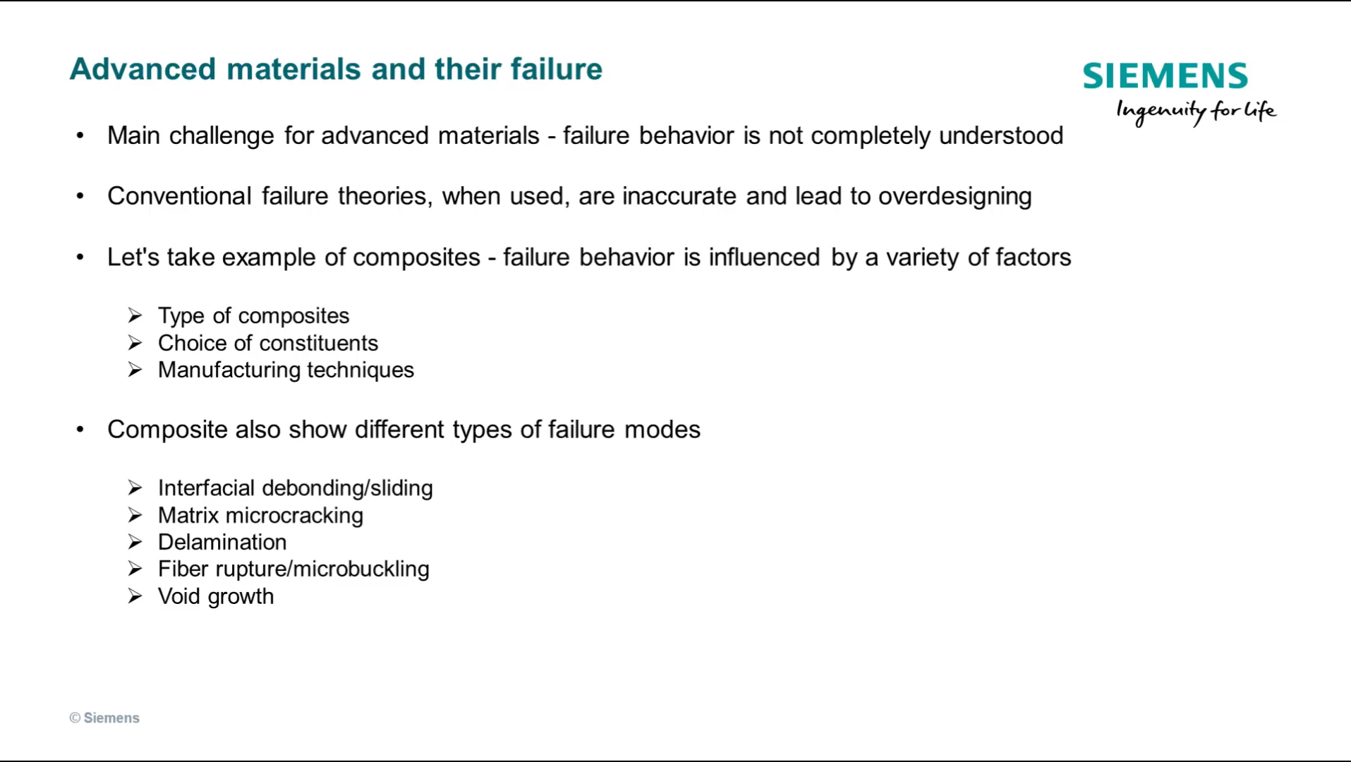 Advanced materials and their failure cover image