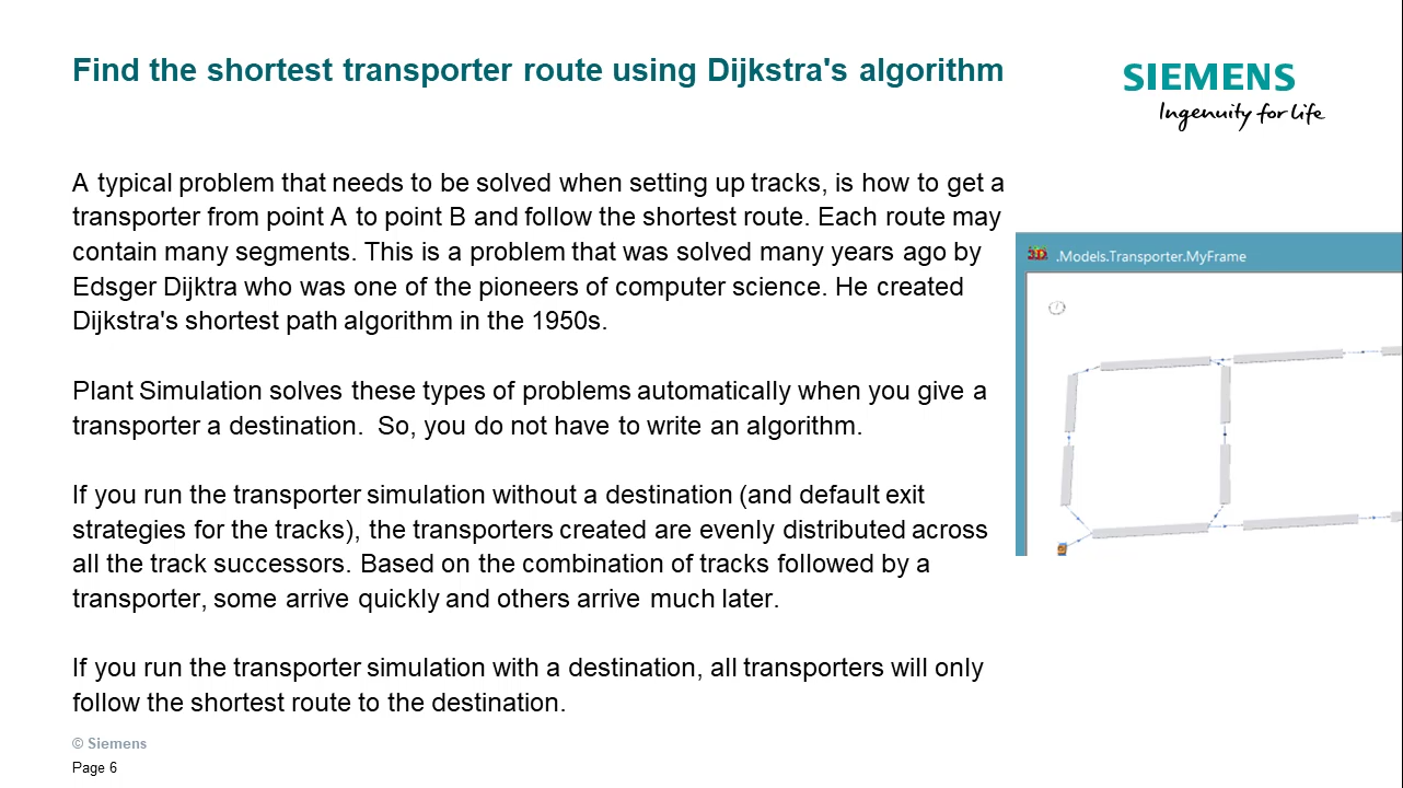 Automatic transporter and part routing cover image